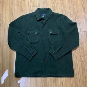 🔥 Barbour Men's Green Wool Sweater / Jacket (XL)